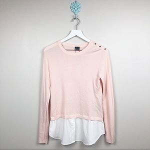 Love Token Light Pink Sweater Size Small NWT